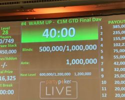 poker tournament payout structure